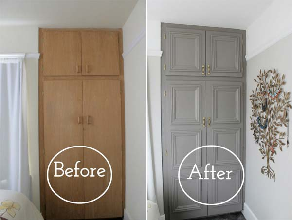 How To Update A Dated Home Without, How To Add Trim Kitchen Cabinet Doors